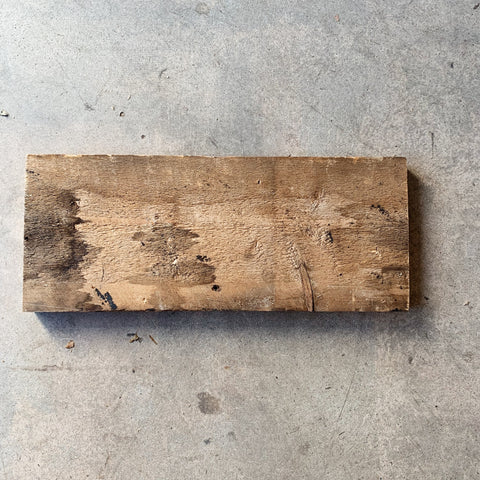 Reclaimed Barn Wood Shelf: Unfinished