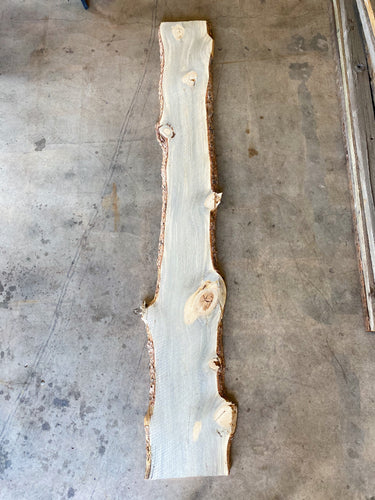 "96"" x 11-15"" x 1"" Beetle Kill Pine Live Edge Slab"