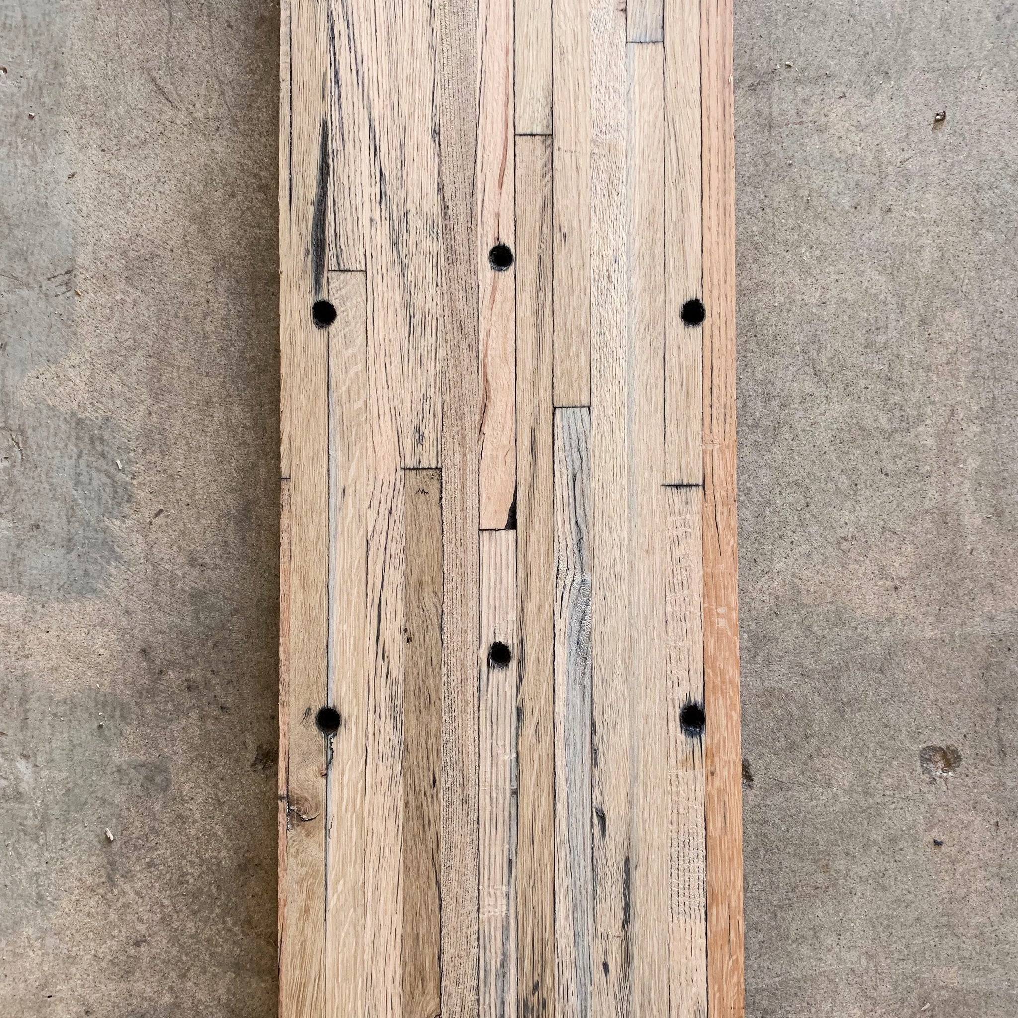 Reclaimed Oak Butcher Block - Grade A, Edged & Planed