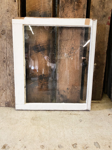"Antique Single Pane Window 28"" x 24"""