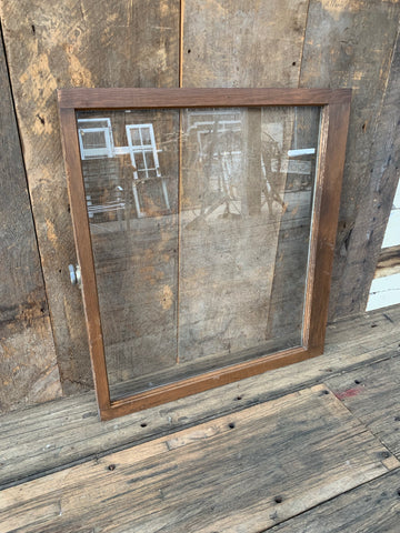 "Antique Single Pane Window 31"" x 28"""