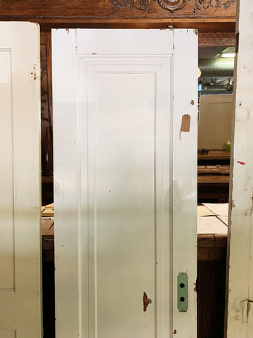 "Antique Solid Wood Single Panel Door - 77"" x 24"""