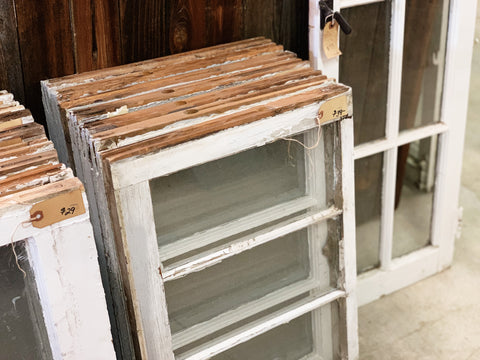 "Antique Three Pane Windows - 24"" x 17 1/4"""
