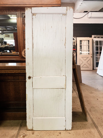 "Antique Solid Wood Two Panel Door - 78 3/4"" x 30 1/4"