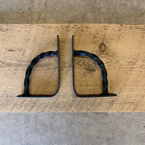 "Hand Forged Steel Shelf Brackets: 6"" x 4"""