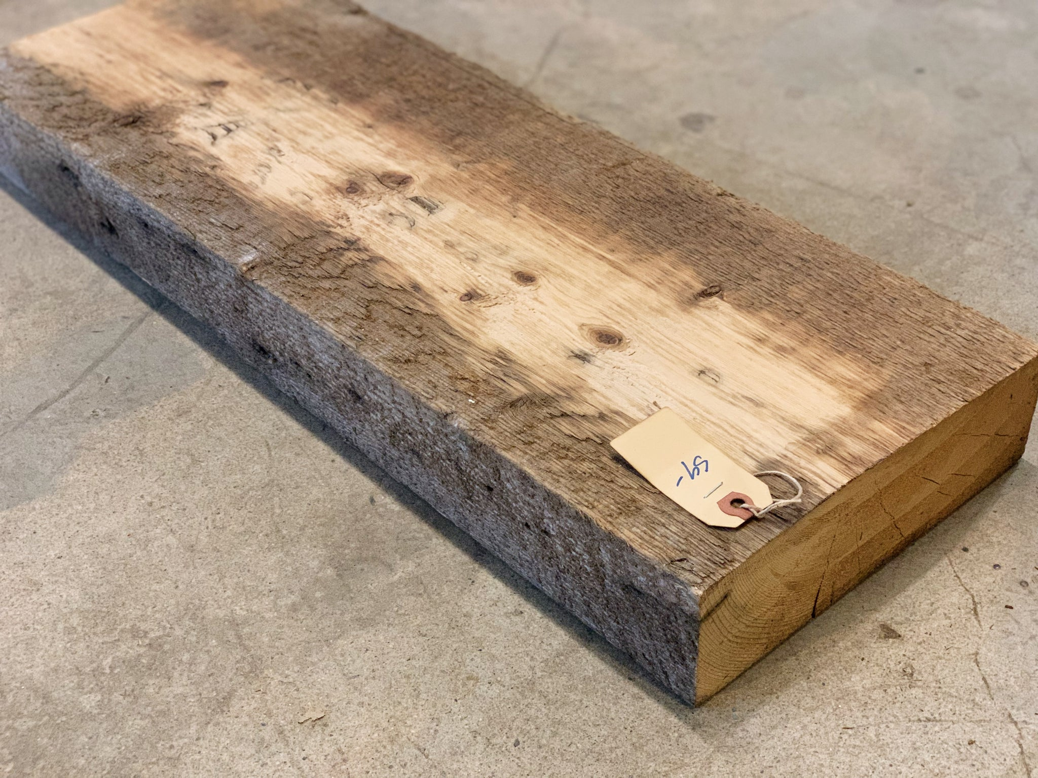 "Reclaimed Barn Wood Shelf (26"" x 9 1/2"" x 3"")"