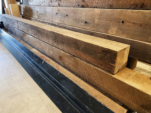 "Reclaimed Wood Beam (120"" x 6"