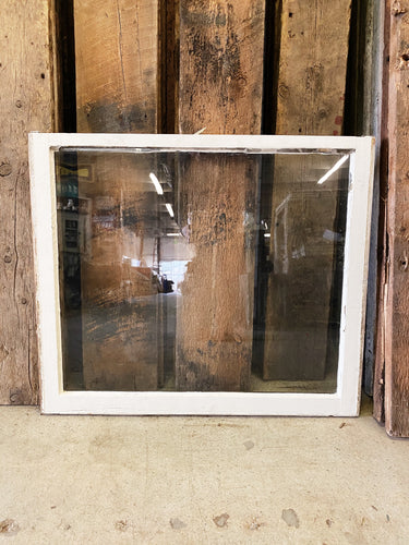 "Antique Single Pane Window 32"" x 27"""