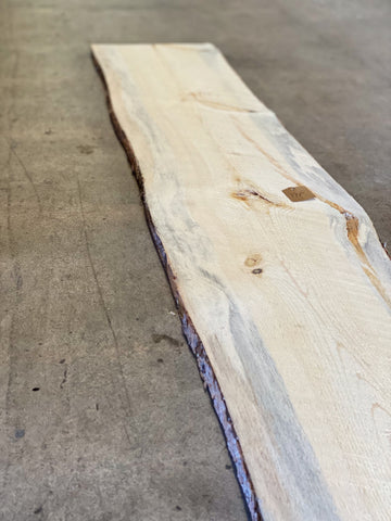 "98"" x 10"" x 1"" Beetle Kill Pine Live Edge Slab"