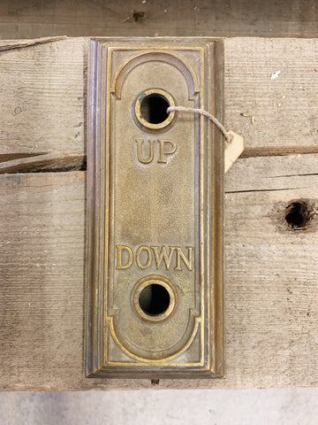 "Elevator ""Up Down"" Switch Plate"