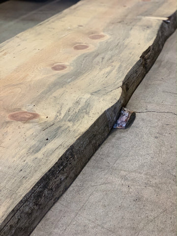 "97"" x 20"" x 2 1/2"" Beetle Kill Pine Live Edge Slab"