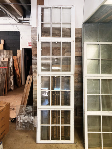Large Antique Window Divider: 9' x 29 1/2""