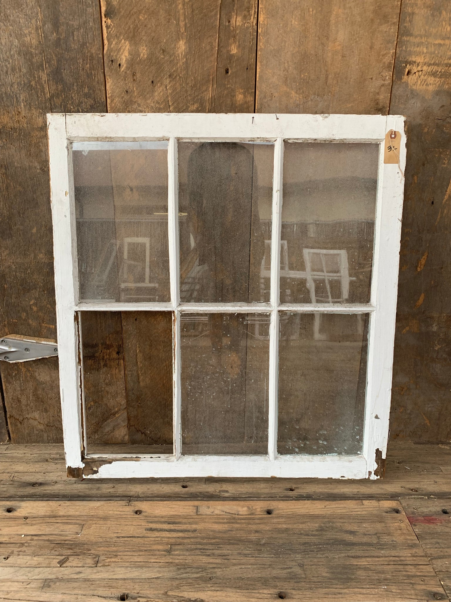 "Antique Six Pane Window 35 1/4"" x 31 1/4"""