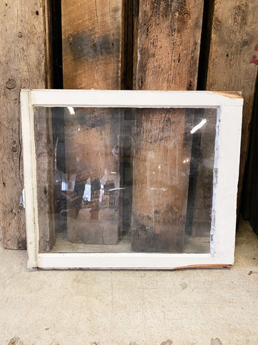 "Antique Single Pane Window 28"" x 23 3/4"""