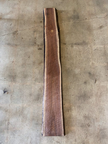 "78"" x 12"" x 2"" Black Walnut Live Edge Slab"