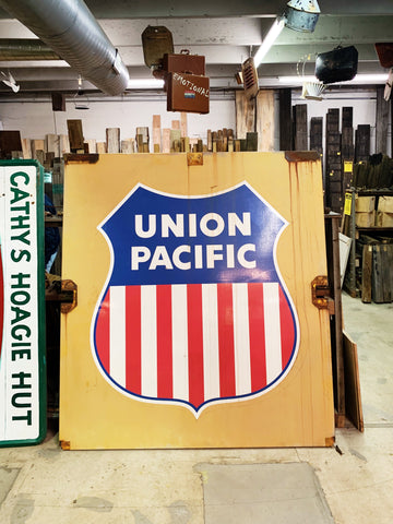 Vintage Union Pacific Railroad Sign
