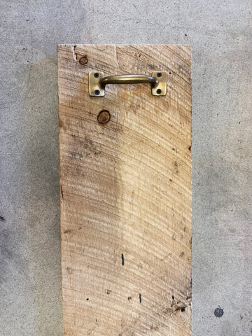 Reclaimed Wood Charcuterie Board with Vintage Handles