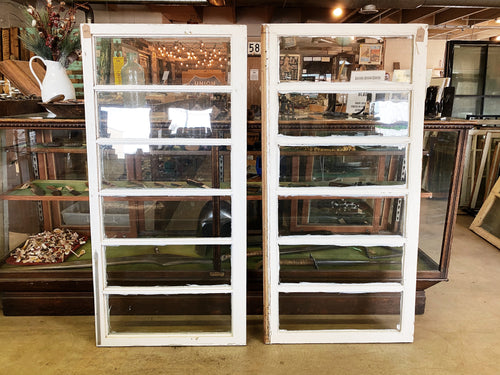"Antique Five Pane Windows - 58 3/4"" x 28 3/4"""
