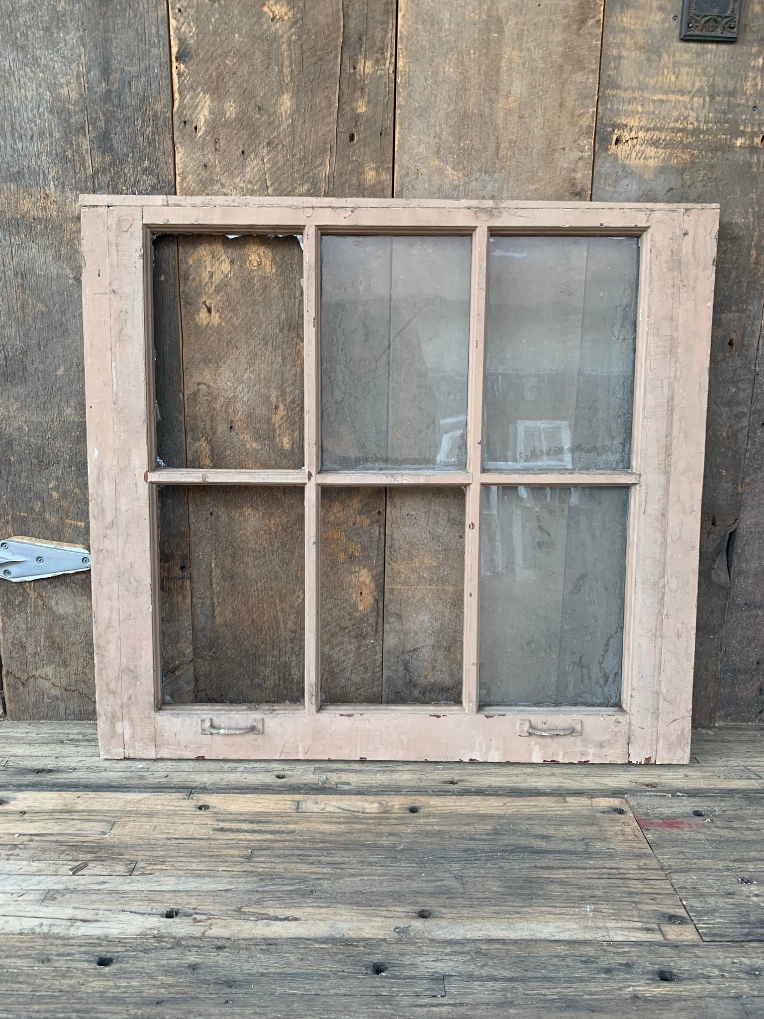 "Antique Six Pane Window 37 1/4"" x 34 1/2"""