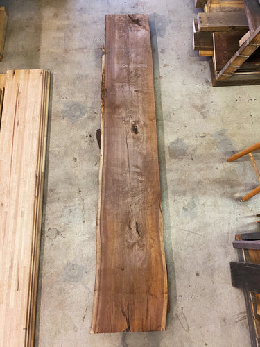 "96"" x 17"" x 3"" Black Walnut Live Edge Slab"
