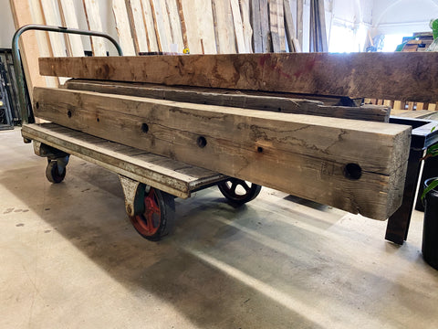 "Reclaimed Wood Beam (90"" x 8"