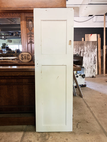 "Antique Solid Wood Two Panel Door - 77"" x 24"""