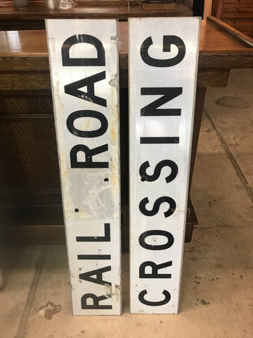 Double Sided Vintage Railroad Crossing Sign 48