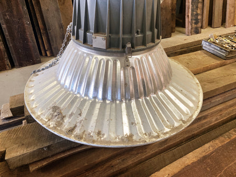 Salvaged G.E. Barn Light from the Hahnewald Barn
