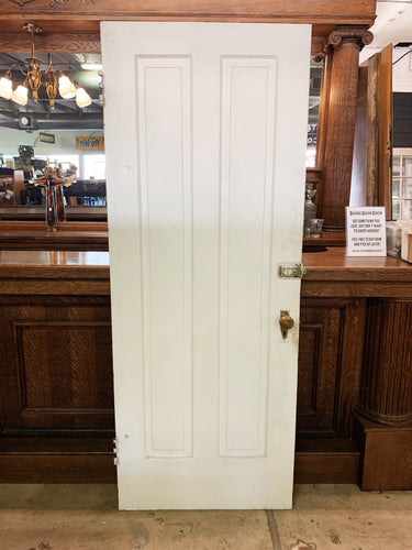 "Antique Two Panel Exterior Door - 77 3/4"" x 30 1/4"""