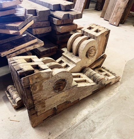 Antique Wooden Corbels