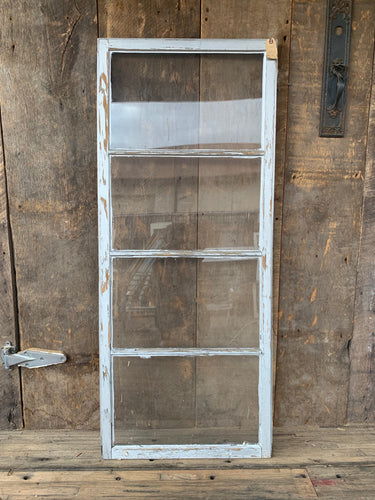"Antique Four Pane Window 57"" x 24"""