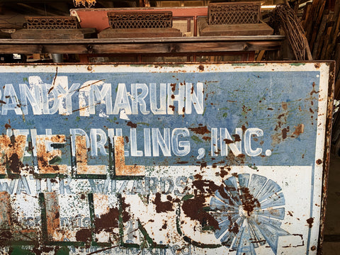 Vintage Drilling Sign - Double Sided