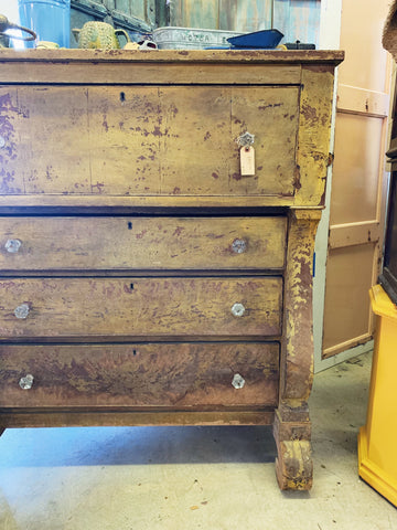Gold Painted Chest of Drawers