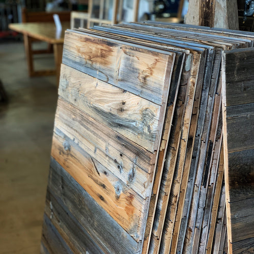 Pre-Made Reclaimed Barn Wood Panels