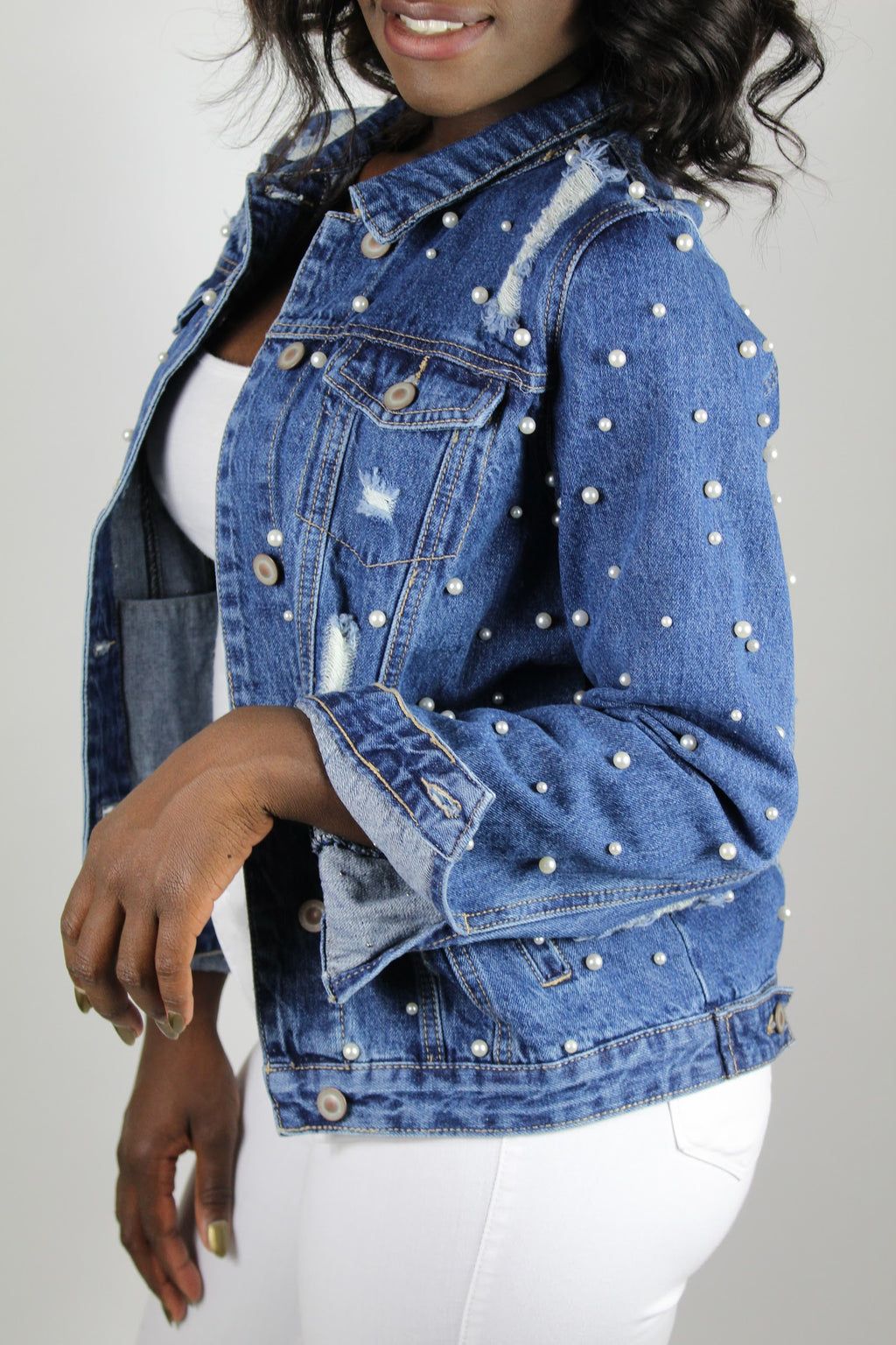 Denim Pearl Jacket