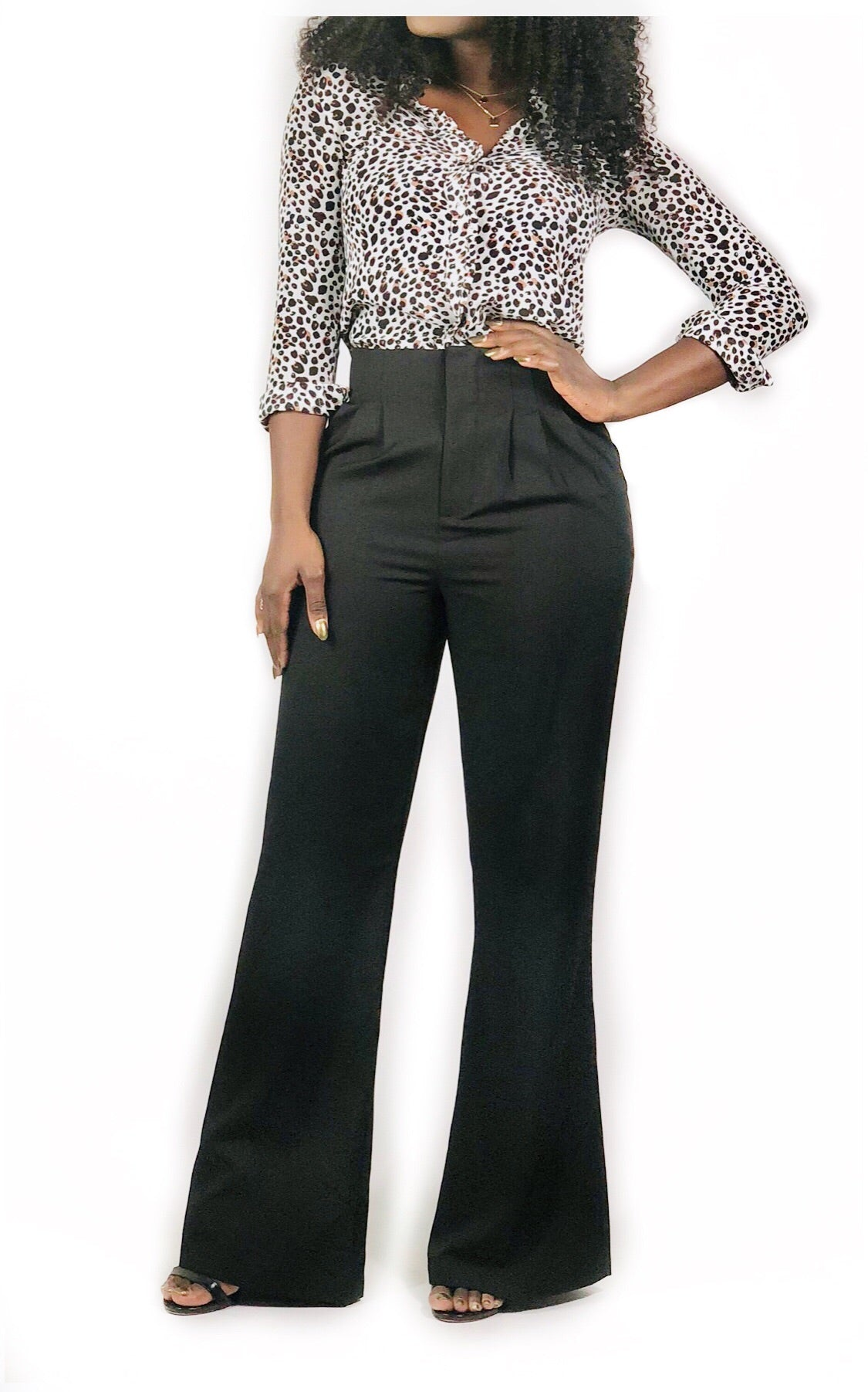 Wide Cut Pant-Black