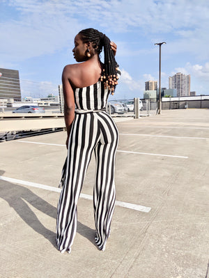 Striped Out Jumpsuit