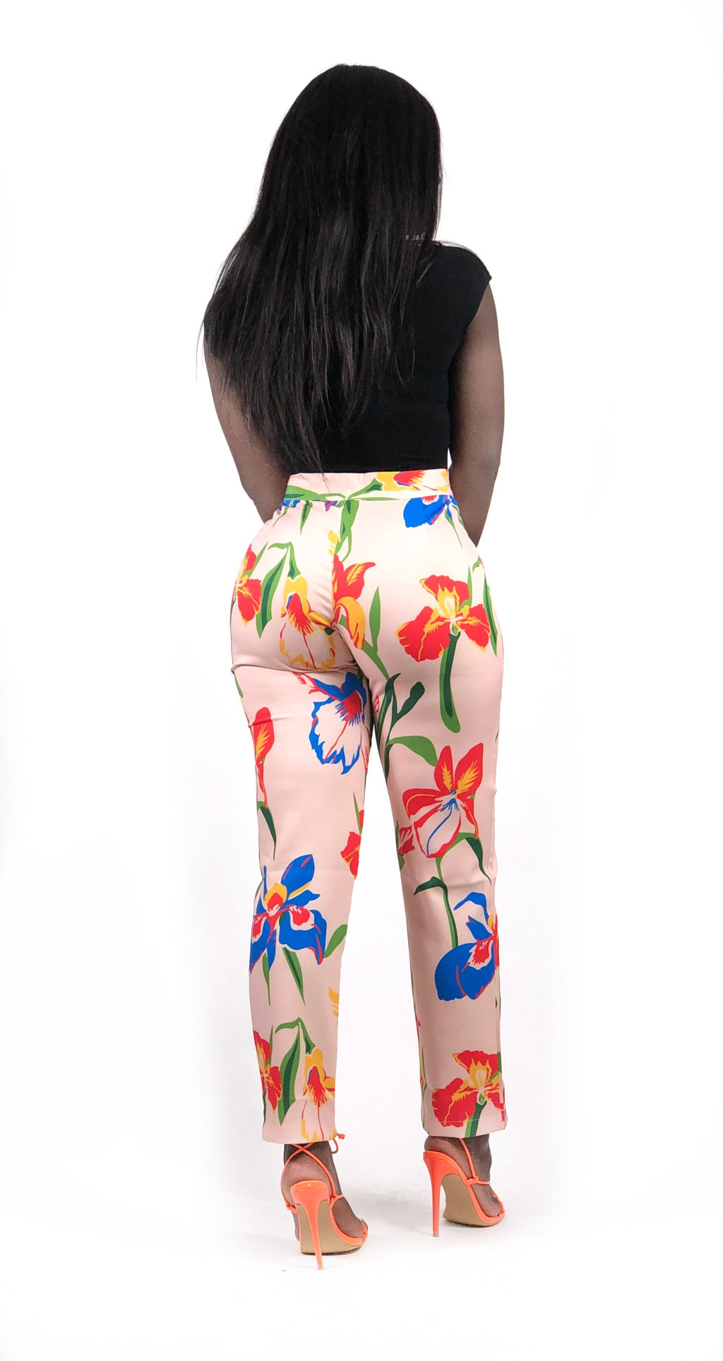 Floral Support Cropped Pants