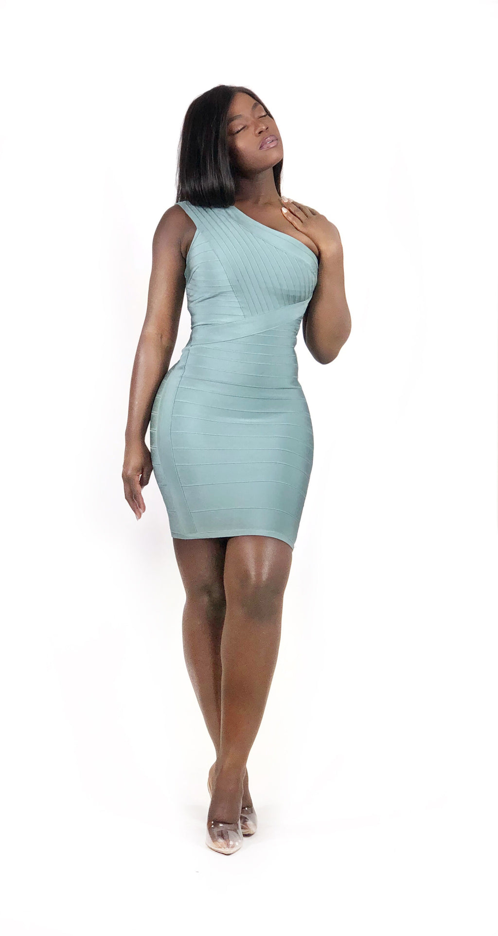 Feel the Mint Bandage Dress