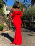 Goodness Gracious Dress-Red
