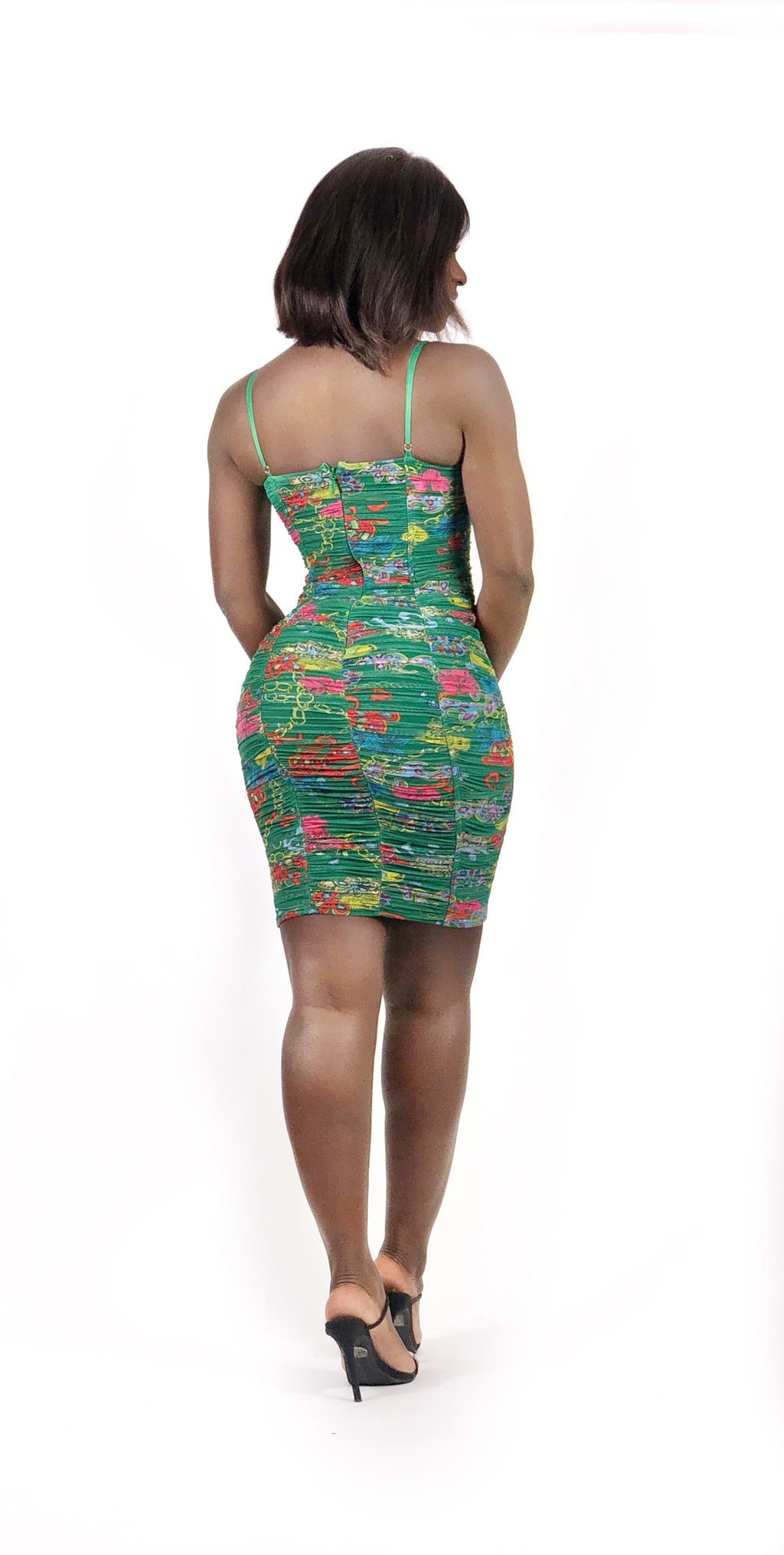 Ruched In The Garden Dress