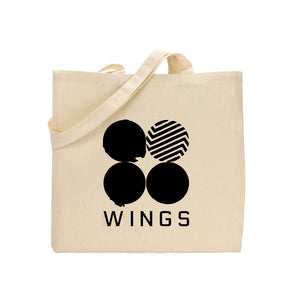 BTS Wing Printed Tote Bag