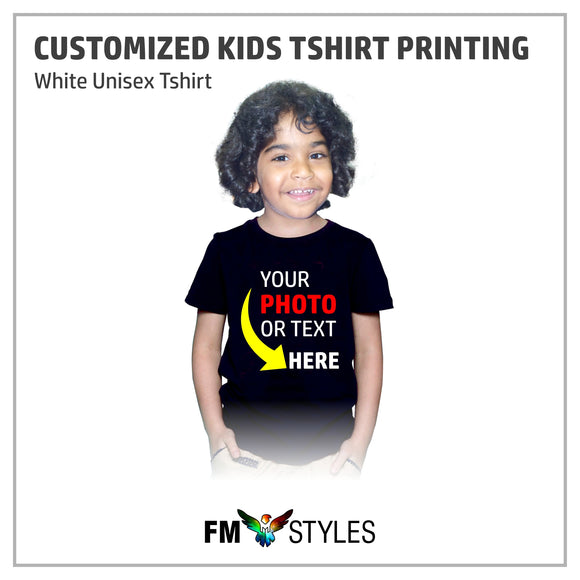 shop137 - Personalised Custom Printed Kids T-Shirt - FMstyles - Kids Tshirt