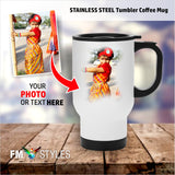 shop137 - Personalized Tumbler Coffee Mug With Cover - FMstyles -