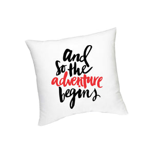 And So Adventure Begins Cushion - FMS-19