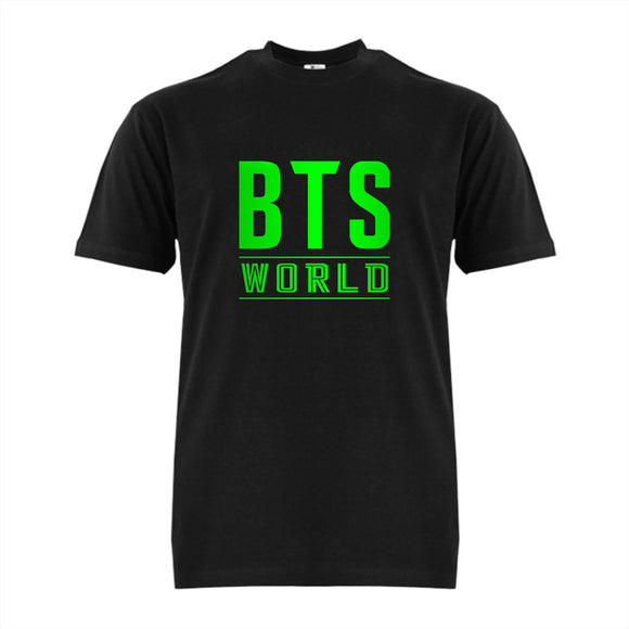 FMstyles - BTS World Black Unisex Tshirt with Green Print - FMS625