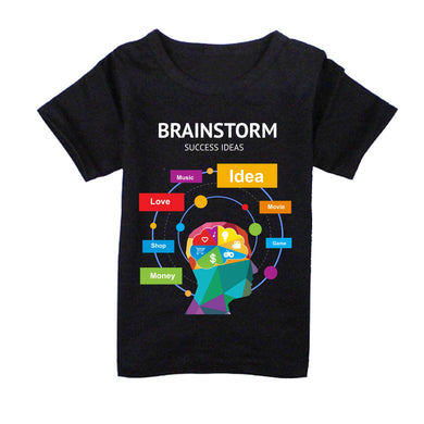 FMstyles - Brainstorm Success Ideas Black Unisex Kids Tshirt - FMS147