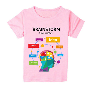 FMstyles - Brainstorm Success Ideas Pink Unisex Kids Tshirt - FMS147