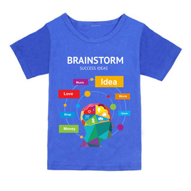FMstyles - Brainstorm Success Ideas Royal Blue Unisex Kids Tshirt - FMS147