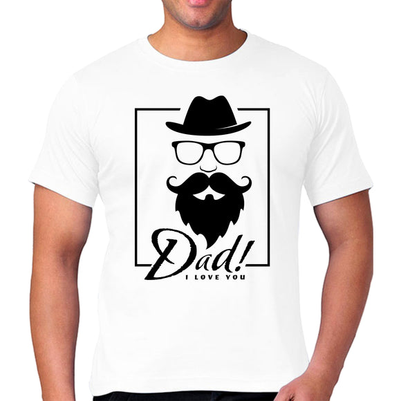 FMstyles - Dad I Love You White Unisex Tshirt - FMS141